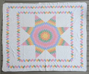 Star of Bethlehem pieced quilt