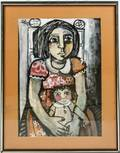 Oil on Paper La Nina de la Munela Signed Vivi