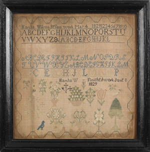 American needlework sampler