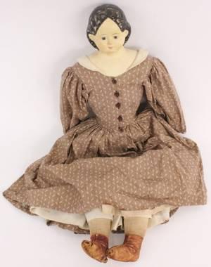 Griener Doll in Brown Dress