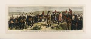 1879 Colored Engraving The Capture of Cetewayo