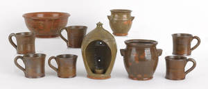 Collection of Thomas Stahl redware