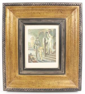 Edmond Malassis Hand Colored Etching 1928