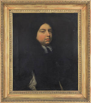 English oil on canvas portrait of a gentleman late 18th c
