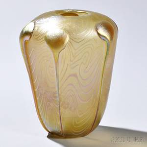 Art Nouveau Iridescent Glass Vase