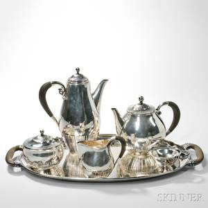 Johan Rohde for Georg Jensen Silver Coffee and Tea Service
