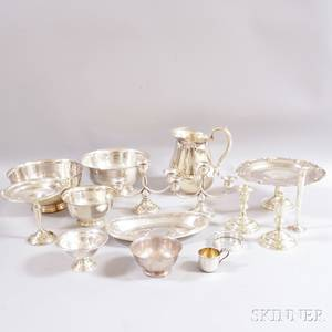 Group of Sterling Silver and Silverplated Tableware