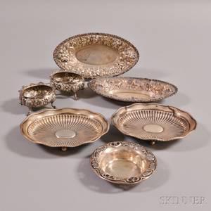 Seven American Sterling Silver Tableware Items