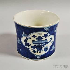 Large Chinese Blue and White Porcelain Brush Pot