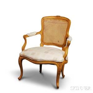 Louis XVstyle Beechwood Fauteuil