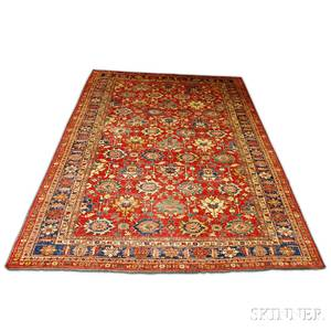 Contemporary Roomsize Jalli Kazak Carpet