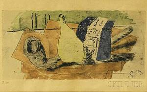 After Georges Braque French 18821963 Still Life with Pipe