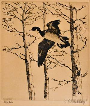 Richard Evett Bishop American 18871975 Wood Duck