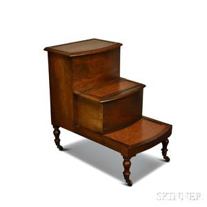 Regencystyle Mahogany Library StepsChamberstand