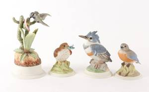 Group of 4 Boehm Bird Figurines