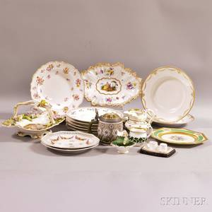 Approximately Twentythree Pieces of Continental Porcelain