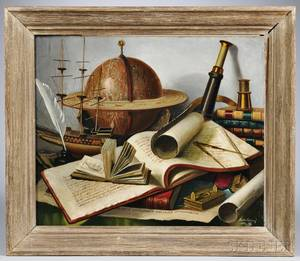 Charles Cerny United States France and Czech Republic 18921965 Maritime Still Life Signed and dated Charles Cern