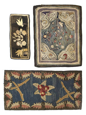 Three American hooked rugs ca 1900