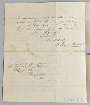 Hull Isaac 17731843 Autograph Letter Signed 16 November 1831