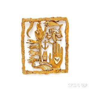 14kt Gold Pendant Eric de Kolb