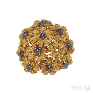 18kt Gold and Sapphire Brooch Tiffany  Co