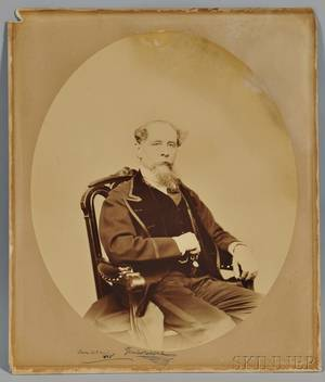 Dickens Charles 18121870 Photograph Signed Boston 6 March 1868