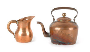 Pennsylvania miniature copper tea kettle ca 1820