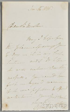 Constable John 17761837 Autograph Letter Signed 16 June 1836