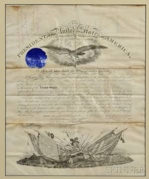 Grant Ulysses S 18221885 Signed Military Commission 27 June 1870