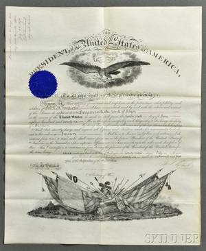 Grant Ulysses S 18221885 Signed Military Commission 22 July 1876