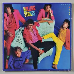 Rolling Stones Signed Album Cover