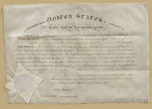 Madison James 17511836 and James Monroe 17581831 Signed Military Commission 20 February 1815