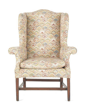 George III mahogany wing chair ca 1780