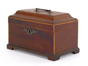 George III mahogany tea caddy ca 1775