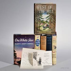 Carroll Gladys Hasty 19041999 Six Signed and Inscribed Volumes with a Collection of Signed Letters