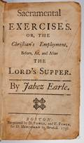 Earle Jabez 16761768 Sacramental Exercises