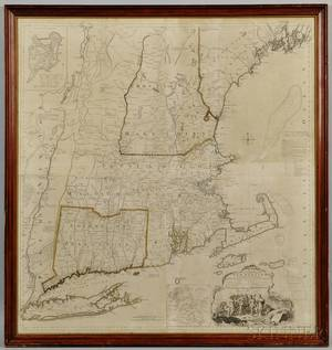 New England Braddock Mead c 16881757 A Map of the Most Inhabited Part of New England Containing the Provinces of Massachusetts Bay