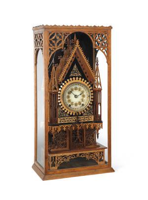 Victorian fretwork mantle clock