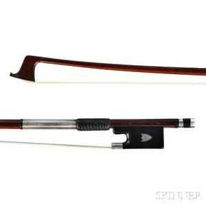 German Silvermounted Violin Bow Vuillaume  Paris c 1900