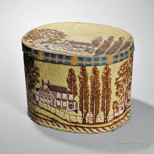 Housedecorated Wallpaper Hat Box