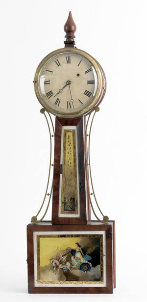 Massachusetts Federal mahogany banjo clock ca 1815