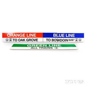 Two MBTA Station Signs