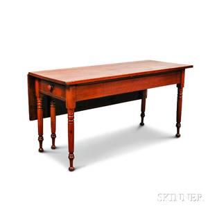 Country Walnut Twodrawer Dropleaf Table