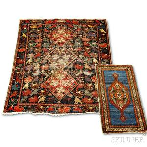 Baktiari Rug and a Hamadan Mat