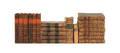 Twenty leatherbound French volumes