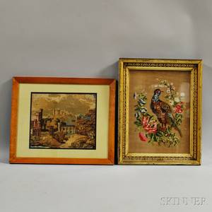 Two Framed Victorian Needlework Pictures