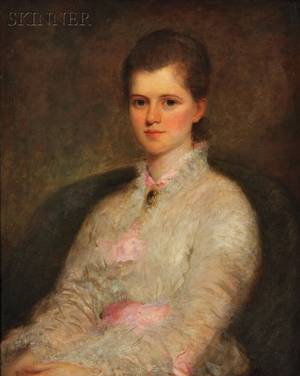 Rosina Emmet Sherwood American 18541948 Young Woman in White and Pink