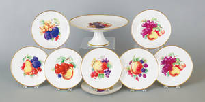 Set of German porcelain fruit plates