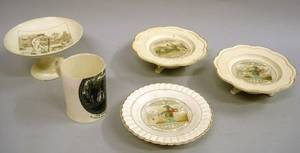 Five Wedgwood Transfer Printed Queens Ware Items
