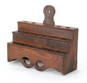 English yew wood utensil rack